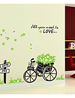 Green Flower Car Wall Stickers