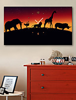 E-HOME® Walking Animals Clock in Canvas 1pcs