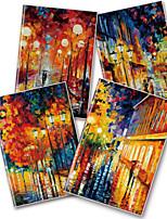 x - libro a5-96 las heladas notebooks de alto grado de revestimiento de caucho (en la lluvia) (4 libros por paquete) a5-96-jt-024
