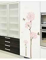 Silk Flower Background Wall Stickers