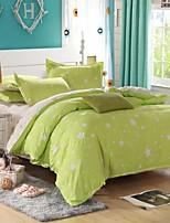estrelas verdes da cama conjunto de 4pcs rainha / twin