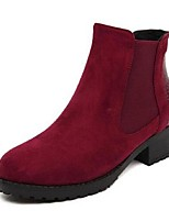 Women's Shoes Low Heel Fashion Boots Boots Casual Black/Burgundy