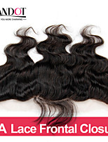 Mongolian Lace Frontal Closure Body Wave Size 13x4 Natural Black Free Middle 3 Part Virgin Human Hair Full Lace Frontal