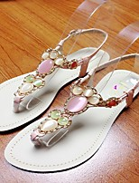 Women's Shoes Flat Heel Round Toe Sandals Casual Pink/White