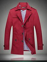 Men's Paragraph dust Coat grows in men's wear Red windbreaker khaki men coat have big yards
