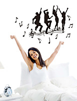 Wall Stickers Wall Decals Style Youth Dance PVC Wall Stickers