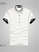 The 2015 summer men's T-shirt cotton men's short sleeve T-shirt collar mainly breathable male T-shirt bottoming shirt