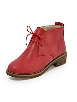 Zapatos de mujer - Tacón Bajo - Botas Anfibias / Punta Redonda - Botas - Oficina y Trabajo / Vestido / Casual - Semicuero -Negro /