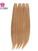 20inch 20pcs Silky Straight Skin Weft Tape In Brazilian Virgin Human Hair Extensions #10 Medium Golden Brown
