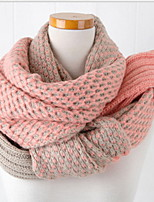 Sweet Girl Candy Color  Tide Thickening More Warm Knitted Double-sided Scarf