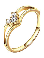 Sweet Heart Shape  Environmental Protection Material Alloy Ring (Gold Palting,Rose Gold Plating)(1Pc)
