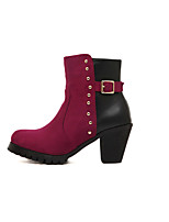 Women's Shoes  Chunky Heel Bootie Boots Casual Black/White