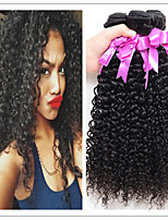 3Pcs/Lot Mongolian Kinky Curly Virgin Hair Human Hair 8-34 Mongolian Kinky Curly Wave Natural Color