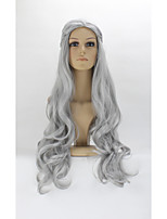 Cosplay Wig New Arrival Game of Thrones Daenerys Inspired Hair Cosplay Hair Wigs Silver 260G