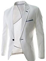 Men's Long Sleeve Regular Blazer , Polyester Pure