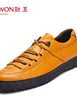 Men's Shoes Office & Career/Casual/Party & Evening Leather Oxfords Brown/Yellow/Green/Purple