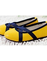 Girls' Shoes Casual Round Toe Flats Blue/Yellow/Pink