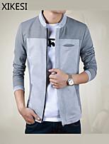 Men's Casual/Work Pure Long Sleeve Regular Jacket (Cotton)XKS7B03
