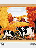 DIY Digital Oil Painting With Solid Wooden Frame Family Fun Painting All By Myself    Golden Farm  4008