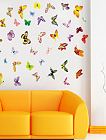 Wall Stickers Wall Decals Style Colored Butterflies PVC Wall Stickers