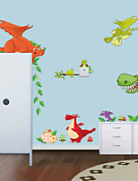 Wall Stickers Wall Decals Style New Dinosaur Zoo PVC Wall Stickers