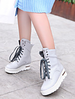 Women's Shoes  Flat Heel Combat Boots/Round Toe Boots Office & Career/Casual Black/Yellow/White/Gray