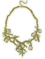 New Big Exaggerated Fashion Rhinestone Imitation Pearl Necklace