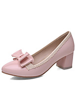 Women's Shoes Chunky Heel Heels/Round Toe/Closed Toe Pumps/Heels Office & Career/Dress/Casual Blue/Pink/Beige