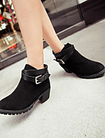 Women's Shoes  Flat Heel Combat Boots/Round Toe Boots Office & Career/Casual Black/Yellow/Red