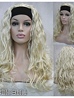 New fashion Half wig 3/4 wigs With headband Long Curly Blonde Synthetic Hair Wig COLOUR CHOICES! 4COLORS!