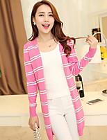 Women's Casual Stretchy Medium Long Sleeve Cardigan