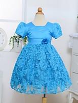 Girl's Polyester Dress , All Seasons Short Sleeve