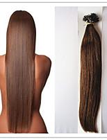 100% vergine diritta pre-legata cheratina estensione dei capelli nano capelli capsula fusione 1g / s 100g / pc 1pc / lot in azione