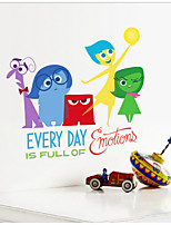 IINSIDE OUT Fear Movie Wall Sticker Kids Bedroom Decoration