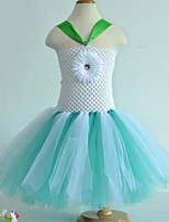 Performance Dresses Children's Performance Polyester 1 Piece Blue/Light Green/Pink/Yellow