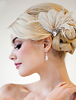 Hand Made Wedding Feather Hair Fascinator Headpieces Fascinators 007