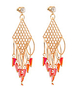 Women's Fashion Vintage 18 K Gold Plated Earrings Individuality Pendant Earrings TP0090
