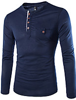 Men's Casual/Sport Long Sleeve Regular T-Shirt