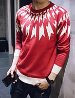 Men's Plaids & Checks Pullover , Knitwear Long Sleeve