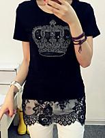 Normaal - Dun - Casual - T-shirt ( Katoen )met Korte mouw