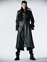 PUNK RAVE Y-407 Men's Casual Pure Long Sleeve Long Jacket