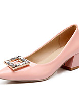 Women's Shoes Faux Chunky Heel Heels/Pointed Toe/Closed Toe Pumps/Heels Office & Career/Casual Pink