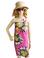 Unique Style Hotpink Flower Printed Multipurpose Dress Magic Scarf