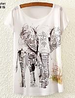 Damen T-Shirt Polyester Kurzarm