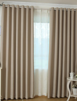 (One Panel)The Modern Linen Light Color Blackout Curtain
