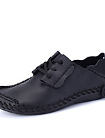 Men's Oxfords Comfort Leather Spring Summer Casual Office & Career Party & Evening Walking Comfort Lace-up Dark Brown Brown Gray Black