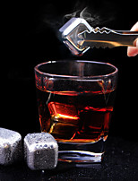 ALL BLUE (6 PCS) Fashion  Imported Whiskey Quick-Frozen 304 Stainless Steel Ice Cube For Bar