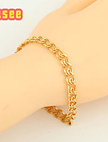 18K Golden Plated Simple Style Bracelet