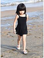Girls' Suspender Skirt Sleeveless Skin Basic One Piece Dresses (Cotton)