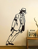 Wall Stickers Wall Decals, Fashion Michael Jackson PVC Wall Sticker